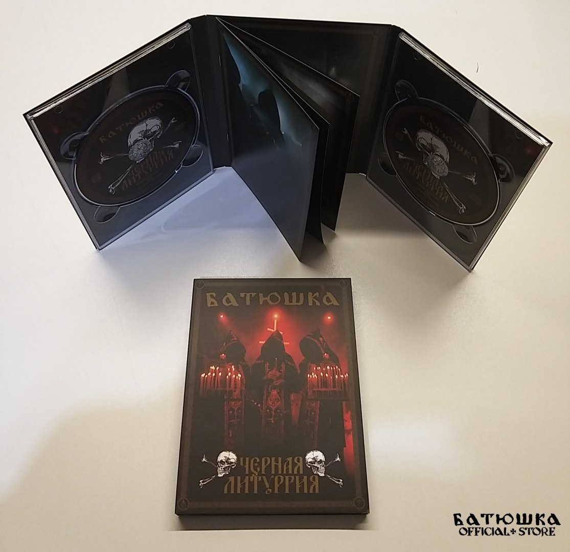 "BATUSHKA -""ЧЕРНАЯ ЛИТУРГИЯ / BLACK LITURGY"" A5 CD/DVD DIGI PACK (PRE-ORDER)"