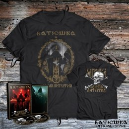 "BATUSHKA - ""ЧЕРНАЯ ЛИТУРГИЯ / BLACK LITURGY"" T-SHIRT + DIGI PACK DVD/CD (PRE-ORDER)"