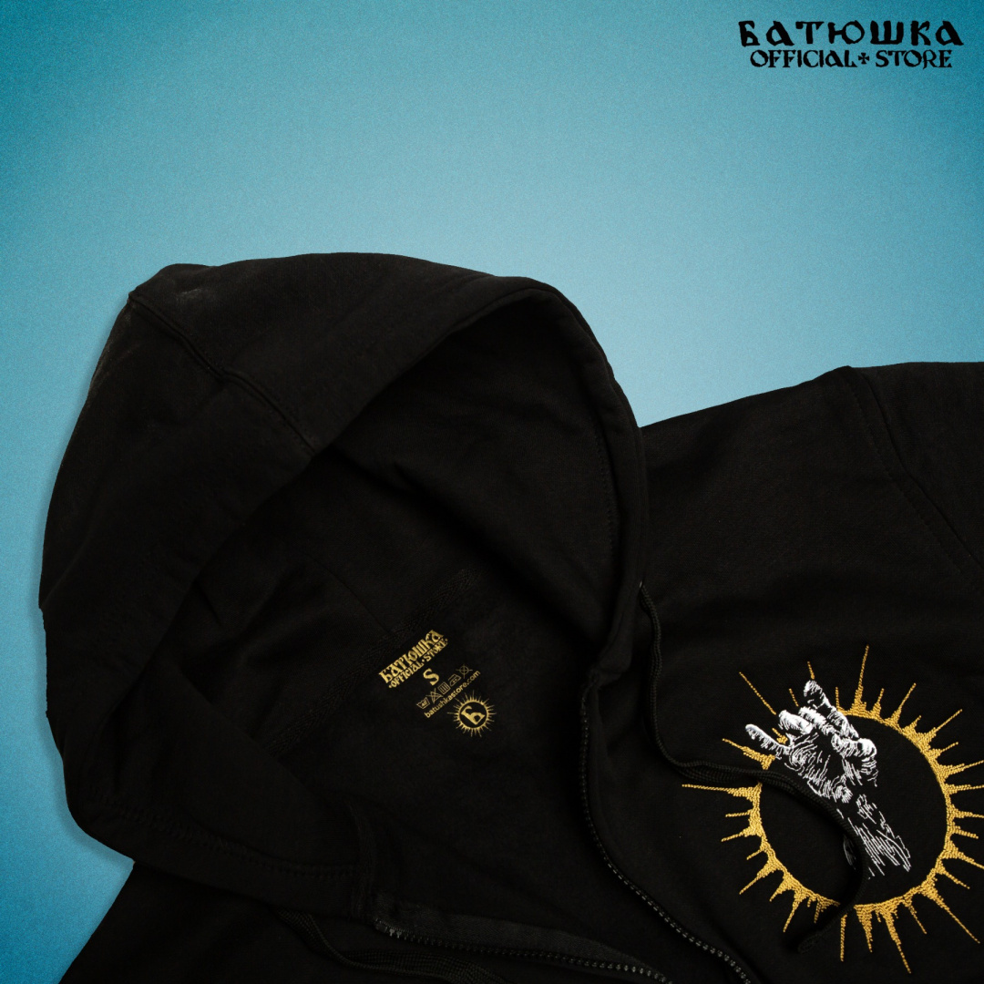 "ZIPPER EMBROIDERED HOODIE ""SHEMA MONK II"""